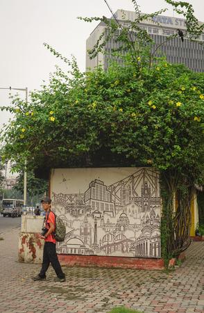 elliot: CALCUTTA, INDIA - AUG 10, 2015. People visit Elliot Park in central part of Calcutta, India. Kolkata (formerly Calcutta) was Indias capital under the British Raj.
