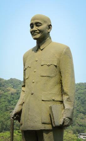 shek: Taipei, Taiwan - Jan 11, 2015. Statue of Chiang Kai Shek in the park in Taipei, Taiwan.