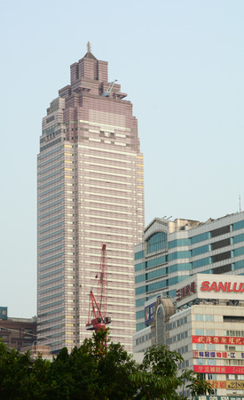 habitable: Taipei, Taiwan - Mar 15, 2015. Image of residential buildings of New Taipei City, Taiwan.