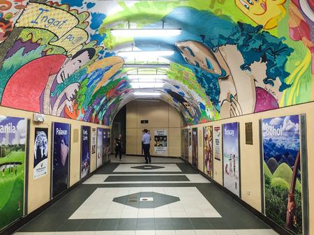 urbanism: Manila, Philippines - Dec 21, 2015. Inside view of subway station in Manila, Philippines.