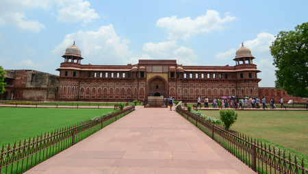 mughal empire: Agra, India - Jul 13, 2015. View of Agra Fort, World Heritage site in Agra, India.