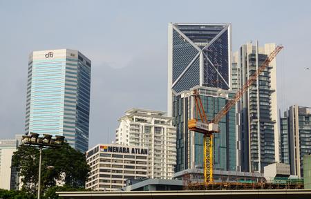 Kuala Lumpur, Malaysia - Jun 6, 2015. Cityscape in Kuala Lumpur, Malaysia. Kuala Lumpurs central business district today has shifted around the Kuala Lumpur city centre (KLCC). Editorial