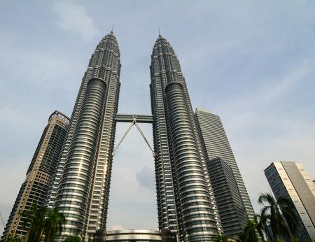 Kuala Lumpur, Malaysia - Jun 6, 2015. Petronas Twin Towers in Kuala Lumpur, Malaysia. The buildings are a landmark of Kuala Lumpur.