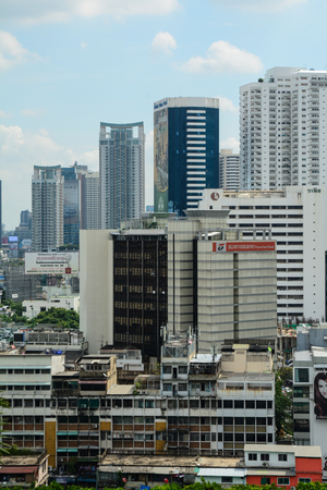 Bangkok, Thailand - Nov 10, 2015. Many modern buildings rising in Bangkok, Thailand. In 2010, the city had an economic output of 3.142 trillion baht.