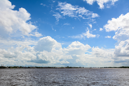 vietnamese ethnicity: Landscape of Mekong River at sunny day in Southern Vietnam.