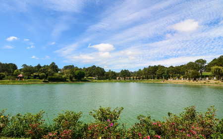 View of Xuan Huong Lake in Dalat, Vietnam. Dalat is a city located on Lang Biang highlands – part of the Central Highlands region of Vietnam.