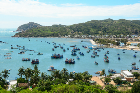 View of Vinh Hy Bay in Phan Rang, southern Vietnam. Phan Rang is one of famous destinations in southern Vietnam.