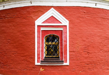 Small window of the Ortodox church in Suzdal town, Vladimir, Russia.