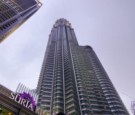 Kuala Lumpur, Malaysia - Jan 2, 2017. Petronas Twin Towers in Kuala Lumpur, Malaysia. Petronas Towers were the tallest buildings in the world from 1998 to 2004. Editorial