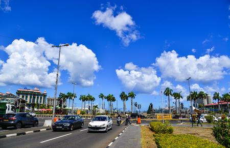 Port Louis, Mauritius - Jan 4, 2017. Cityscape of Port Louis, Mauritius. Port Louis is the countrys economic, cultural, political centre and most populous city.