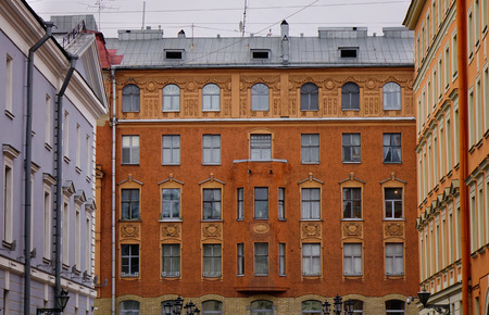 Old buildings in Saint Petersburg downtown, Russia. St Petersburg is the most Westernized city of Russia, as well as its cultural capital.