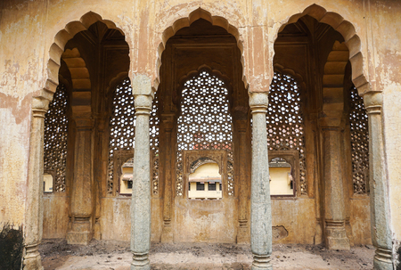 mughal empire: Dome with doors at the ancient castle in Jaipur, India. Jaipur is a land of natural beauty and great history of travel destinations.