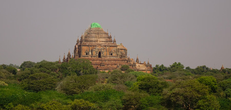 sight seeing: A Buddhist temple collapsed after the earthquake in 2016 in Bagan, Myanmar. Bagan is an ancient city in central Myanmar (formerly Burma), southwest of Mandalay.