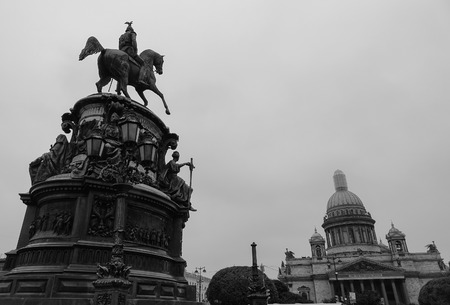 Saint Petersburg, Russia - Oct 13, 2016. The Bronze Horseman Monument in Saint Petersburg, Russia. St Petersburg has a significant historical and cultural heritage.