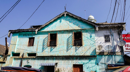 Pyin Oo Lwin, Myanmar - Feb 12, 2017. Old colonial houses in Pyin Oo Lwin, Myanmar. The small town of Pyin Oo Lwin is a reminder of the British colonial times in Myanmar.