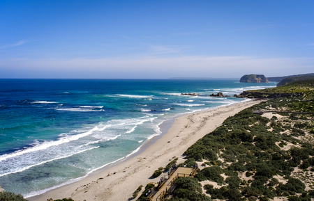 Beautiful beach with blue sea at the sunny day in summer