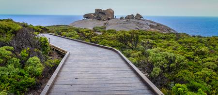 A wooden bridge on Kangaroo Island, South Australia. The island lies in the state of South Australia 112 km (70 mi) southwest of Adelaide.