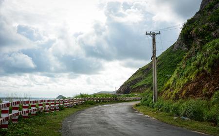 con dao: Mountain road in Con Dao island, Vietnam. The Con Dao Islands are an archipelago of Ba Ria Province, in the Southeast region of Vietnam.