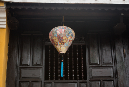 A traditional paper lantern at old house in Hoi An, Vietnam. Hoi An is Vietnam most atmospheric and delightful town.