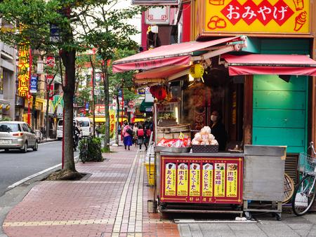 perishable: Yokohama, Japan - Nov 5, 2014. Local restaurant located at Chinatown in Yokohama, Japan. Yokohama Chinatown is the largest Chinatown in Japan. Editorial
