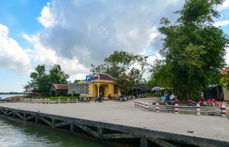 Hoi An, Vietnam - Dec 3, 2015. View of the local jetty in Hoi An, Vietnam. Ancient and peaceful, Hoi An is one of the most popular destinations in Vietnam. Editorial