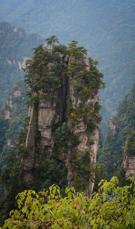 magnificence: Hallelujah Mountain at Zhangjiajie National Park in Hunan, China. Zhangjiajie is known as the home of the Avatar Mountains.