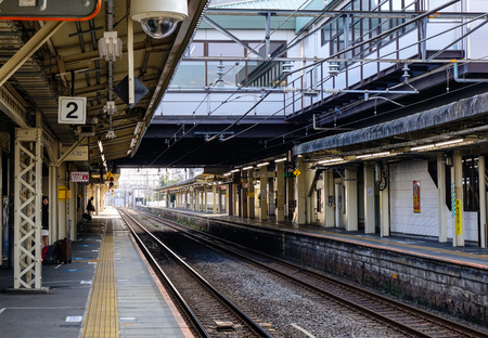 Tokyo, Japan - Dec 25, 2015. Railway station in Tokyo, Japan. Japan railways carried 31 million tons (21 billion tonne-kilometres) of goods in 2013-14.
