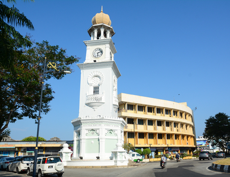 Georgetown, Malaysia - Mar 10, 2016. Victoria Clock Tower in George Town, Malaysia. One of the oldest cities in Malaysia, George Town was inscribed as a UNESCO in 2008. Editorial