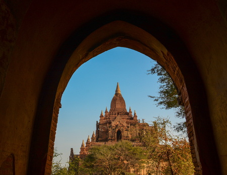 Buddhist temples in Bagan, Myanmar. Bagan is one of the world greatest archeological sites, a sight to rival Machu Picchu or Angkor Wat.