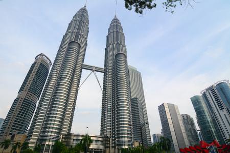 tallest bridge: Kuala Lumpur, Malaysia - Jun 6, 2015. Petronas Twin Towers at business district in Kuala Lumpur (KL), Malaysia. KL is the national capital of Malaysia as well as its largest city.