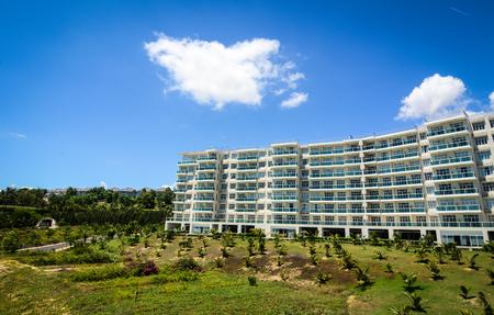 Phan Thiet, Vietnam - Oct 14, 2015. Luxury resort at Mui Ne town in Phan Thiet, Vietnam. Phan Thiet belongs to Binh Thuan province and located 200km South of Cam Ranh Bay.