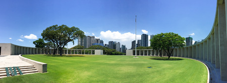 Manila, Philippines - Apr 13, 2017. American Cemetery in Manila, Philippines. The Cemetery has the largest number of graves of any cemetery for US personnel killed during World War II. Editorial
