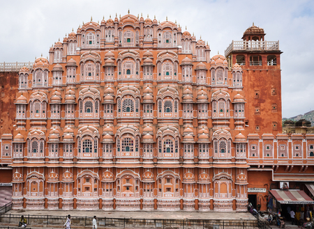 mughal empire: Jaipur, India - Jul 28, 2015. Hawa Mahal (Wind Palace) in Jaipur, India. The renowned Palace Of The Winds, or Hawa Mahal, is one of the prominent tourist attractions in Jaipur city. Editorial