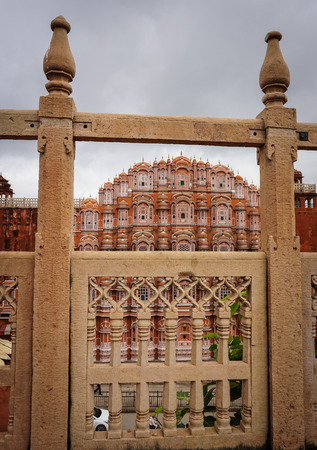 mughal empire: Hawa Mahal (Wind Palace) in Jaipur, India. The renowned Palace Of The Winds, or Hawa Mahal, is one of the prominent tourist attractions in Jaipur city.