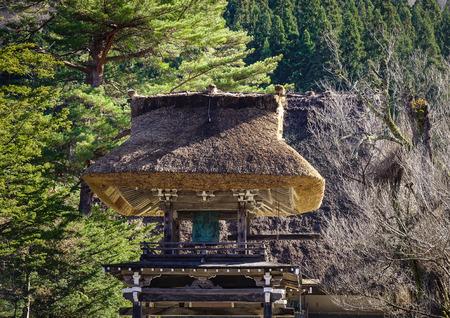 Part of ancient temple at  Shirakawago Village in Gifu, Japan. Shirakawa-go is one of UNESCO World Heritage Sites in Asia.