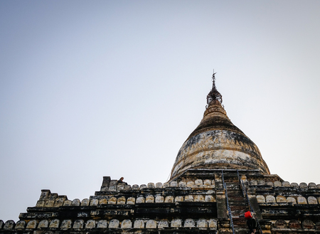 Top of Shwesandaw Temple in Bagan, Myanmar. Bagan is one of the world greatest archeological sites, a sight to rival Machu Picchu or Angkor Wat.