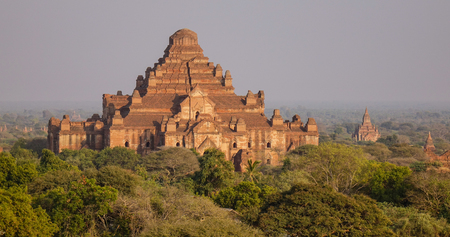 View of Dhammayan Temple in Bagan, Myanmar. Largest of all the temples, the Dhammayan as it is popularly known was built during the reign of King Narathu. Editorial
