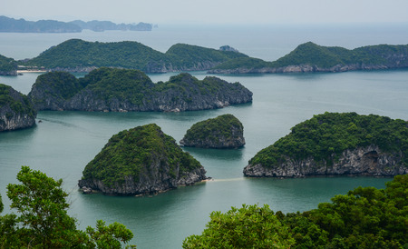 Landscape of Cat Ba National Park in North of Vietnam. Cat Ba is an well-known archipelago with a spectacular array of sea and island scenery.