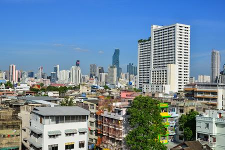 Bangkok, Thailand - Jun 16, 2017. Cityscape of Bangkok, Thailand. Bangkok, Thailand capital, is a large city known for ornate shrines and vibrant street life.