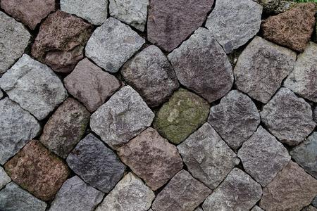 solid background: Stone wall of Kanazawa castle in Japan. Kanazawa Castle is a symbol of the historic town of Kanazawa.