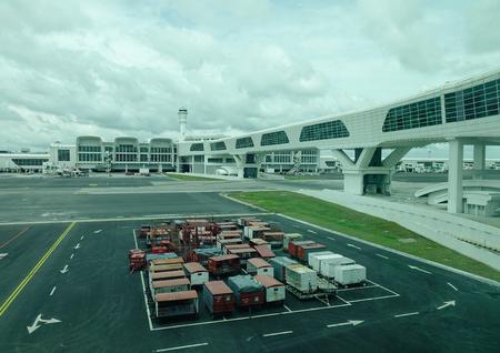 Kuala Lumpur, Malaysia - Jan 2, 2017. View of KLIA Airport in Kuala Lumpur, Malaysia. KLIA is capable of handling 35 million passengers and 1.2 million tonnes of cargo a year.