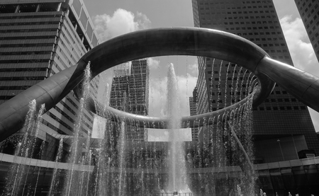 Singapore - Jun 13, 2017. The Fountain of Wealth at Suntec City, Singapore. It is listed by the Guinness Book of Records in 1998 as the largest fountain in the world. Editorial