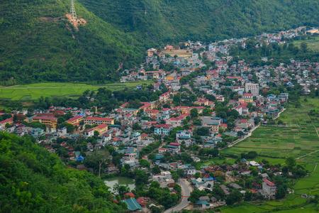 Mai Chau Township in Northern Vietnam. Mai Chau is a rural district of Hoa Binh Province in the Northwest region of Vietnam.