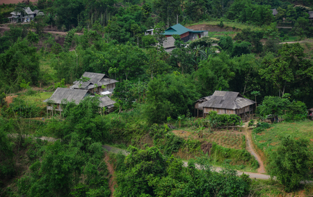dalat: Small village on the hill in Mai Chau, Northern Vietnam. Mai Chau is a rural district of Hoa Binh Province in the Northwest region of Vietnam.