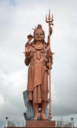 Front of Lord Shiva (Mangal Mahadev) at Grand Bassin in Mauritius. Mangal Mahadev statue is situated in the district of Savanne, in Mauritius.