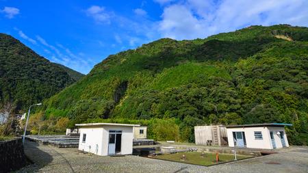 Mountain scenery of Kumano Kodo in Kansai, Japan. Kumano Kodo pilgrimage routes were registered as UNESCO in 2004. Stock Photo