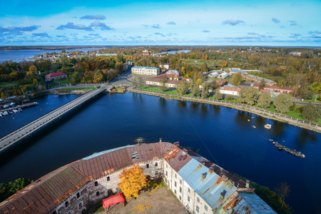 Main canal of Vyborg, Russia. With its cobblestoned streets and medieval castle, the picturesque town of Vyborg makes the perfect day trip from St Petersburg.