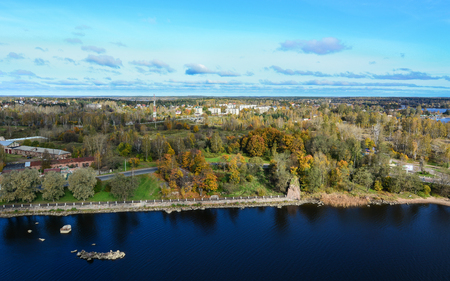 Landscape of Vyborg, Russia. With its cobblestoned streets and medieval castle, the picturesque town of Vyborg makes the perfect day trip from St Petersburg. Editorial