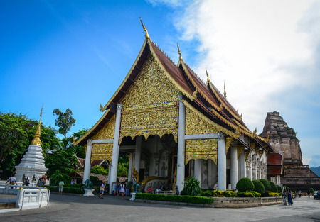 Chiang Mai, Thailand - Jun 22, 2016. Wat Phra Singh in Chiang Mai, Thailand. Most temples in Chiang Mai are of the Lanna style, dating between the 13th and 18th centuries. Editorial