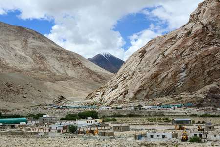 Military base in Ladakah, Northern India. Ladakh was the connection point between Central Asia and South Asia when the Silk Road was in use.